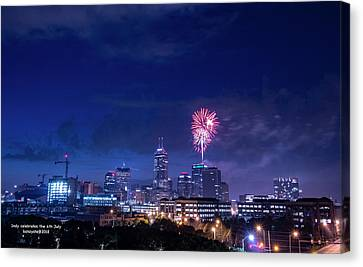 Indy Celebrates 4th Of July Canvas Print