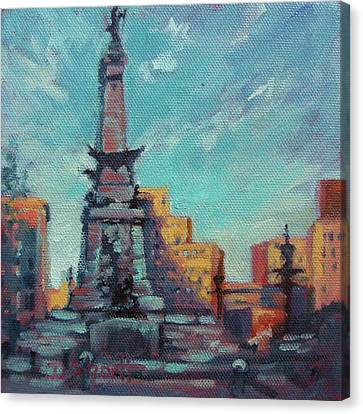 Indy Circle- Day Canvas Print by Donna Shortt