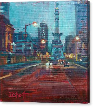 Canvas Print - Indy Circle Night by Donna Shortt