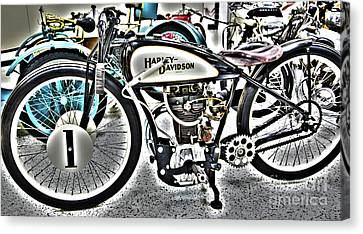 Indy Race Car Museum Harley Davidson Canvas Print by ELITE IMAGE photography By Chad McDermott