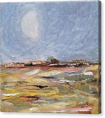Canvas Print featuring the painting Inevitable Epoch by Judith Rhue