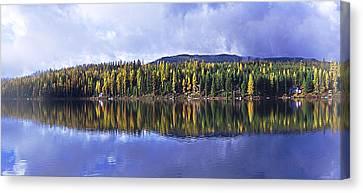 Inez Lake Montana Canvas Print by Janie Johnson