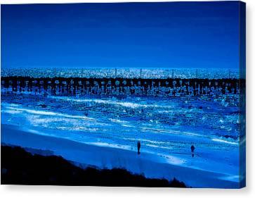 Infinite Blue Canvas Print by John Pagliuca