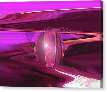 Infinity And Beyond - Abstract Iris Photography Canvas Print