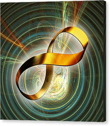 Infinity Symbol And Black Hole Canvas Print by Pasieka