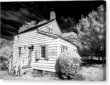 Infrared House At Olde Towne Canvas Print by John Rizzuto