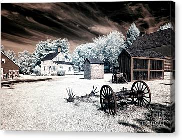 Infrared Olde Towne Canvas Print by John Rizzuto