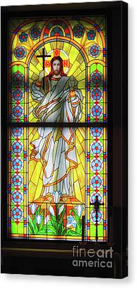 Infront Of The Altar Canvas Print by Stephan Grixti