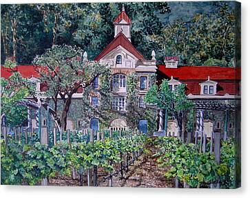 Inglenook Winery Napa Valley  Canvas Print by Gail Chandler
