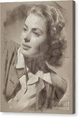 Ingrid Bergman, Actress Canvas Print by John Springfield