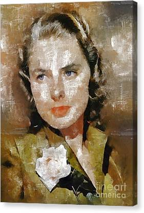 Ingrid Bergman By Mary Bassett Canvas Print