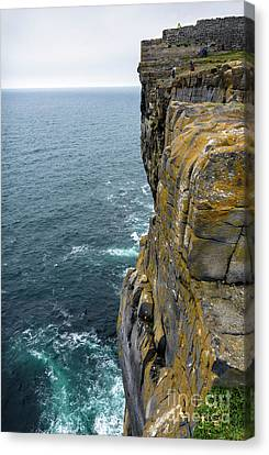 Canvas Print featuring the photograph Inishmore Cliff And Dun Aengus  by RicardMN Photography
