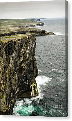 Canvas Print featuring the photograph Inishmore Cliffs And Karst Landscape From Dun Aengus by RicardMN Photography