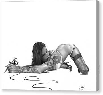 Ink Angel Canvas Print by Pete Tapang