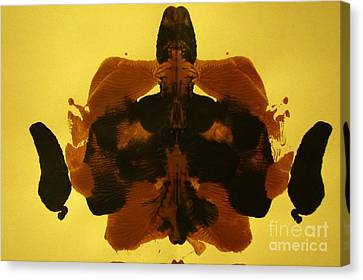 Ink Blot In Paint Canvas Print by John Malone