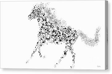 Canvas Print featuring the drawing Ink Splattered Stallion by Nick Gustafson