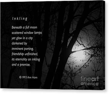 Inkling Canvas Print