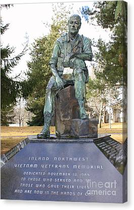 Inland Northwest Vietnam Veterans Memorial Canvas Print by Carol Groenen