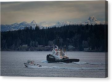 Canvas Print featuring the photograph Inlet Crusader by Randy Hall