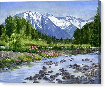Cap Canvas Print - Inlet View From Glacier Creek by Sharon Freeman