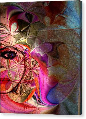 Abstract Digital Canvas Print - Inner Beauty by Beth Aragon