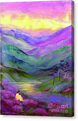 Water Scene Canvas Print - Inner Flame, Meditation by Jane Small