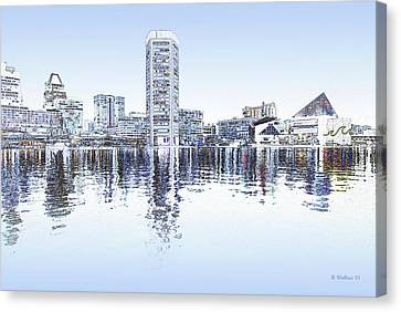 Inner Harbor - Blue Canvas Print by Brian Wallace