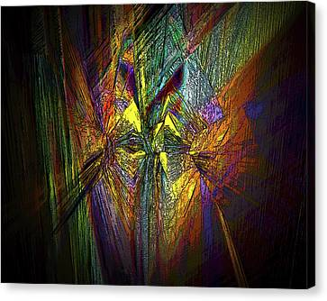 Canvas Print featuring the digital art Inner Labyrinth by Irma BACKELANT GALLERIES