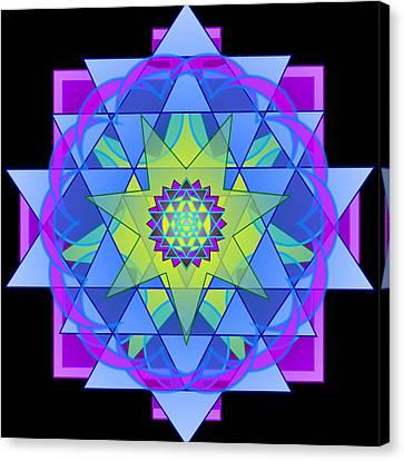 Inner Light Mandala Canvas Print by Mimulux patricia no No