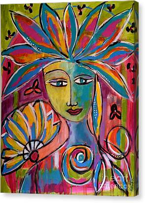 Inner Muse Canvas Print by Corina  Stupu Thomas