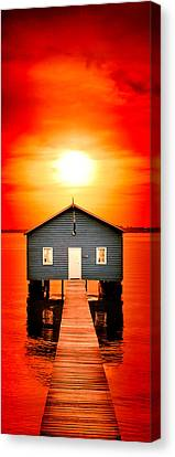 Sheds Canvas Print - Blood Sunset Panorama by Az Jackson