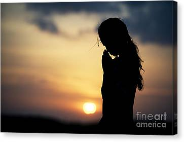 Innocent Prayer Canvas Print by Tim Gainey