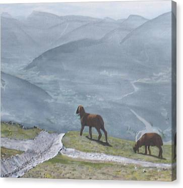 Canvas Print featuring the painting Innsbruck Austria by Betty-Anne McDonald