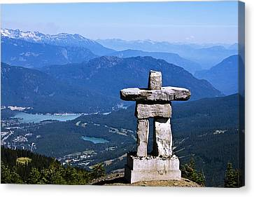 Innukshuk On Whistler Mountain Canvas Print