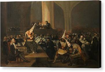 Inquisition Scene Canvas Print by Francisco Goya