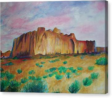 Canvas Print featuring the painting Inscription Rock  by Eric  Schiabor