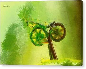 Insect Byke - Da Canvas Print by Leonardo Digenio