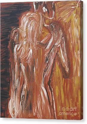 Inseparable Lovers Canvas Print by Jasmine Tolmajian
