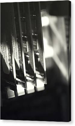 Canvas Print featuring the photograph Inside A Computer Abstract Series - 3 by Trish Mistric