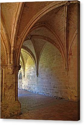 Inside A Monastery Dordogne France  Canvas Print by Dave Mills