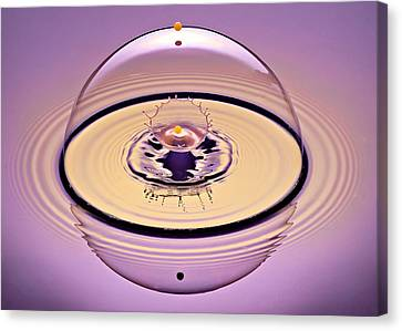 Inside A Saturn Bubble Canvas Print