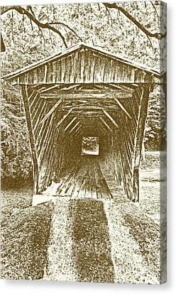 Split Rail Fence Canvas Print - Inside Bob White Bridge by Eric Liller