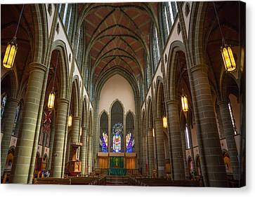 Inside Christchurch Cathedral Canvas Print by Keith Boone