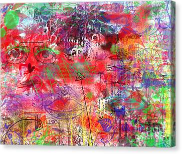 Inside Her Head Canvas Print by Claire Bull
