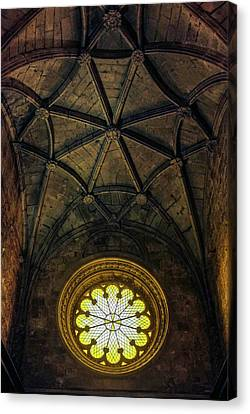 Canvas Print featuring the photograph Inside Jeronimos by Carlos Caetano