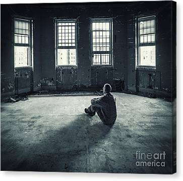 Asylum Canvas Print - Inside My Darkness by Evelina Kremsdorf