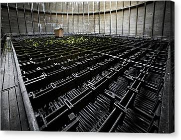 Canvas Print featuring the photograph Inside Of Cooling Tower - Industrial Decay by Dirk Ercken