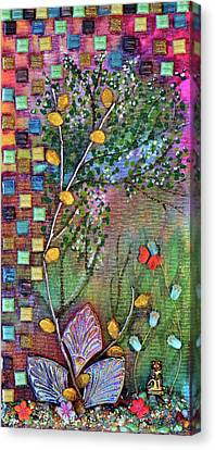 Inside The Garden Wall Canvas Print by Donna Blackhall