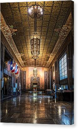 Inside The Louisiana State Capitol Canvas Print