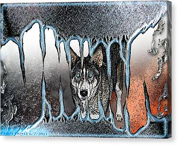 Inside The Monsters Jaws Canvas Print by Cheri Doyle